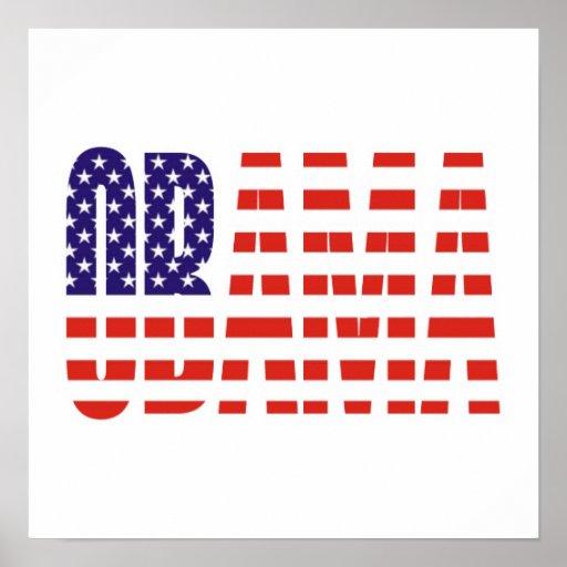 Barack Obama Support USA Flag Tees Gifts Poster