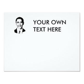 Barack Obama T-shirt 4.25x5.5 Paper Invitation Card