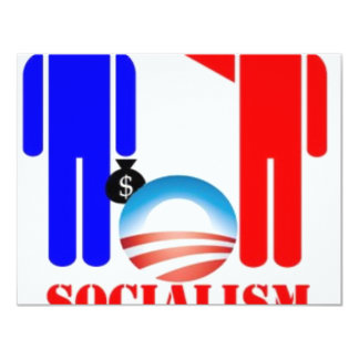 Barack Obama the Socialist 11 Cm X 14 Cm Invitation Card