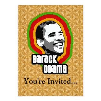 Barack Obama Throwback 13 Cm X 18 Cm Invitation Card