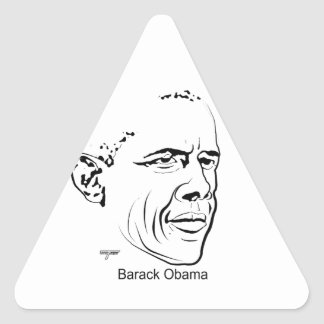 Barack Obama Triangle Sticker