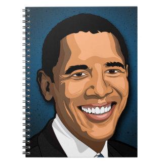Barack Obama Vector Portrait Spiral Notebooks