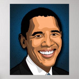 Barack Obama Vector Portrait Poster