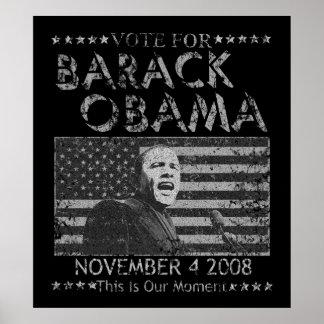 Barack Obama Vote Nov 4 Poster