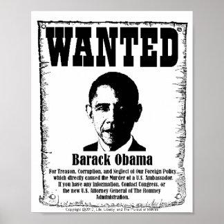Barack Obama Wanted Poster
