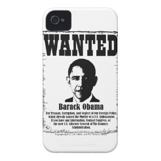 Barack Obama Wanted Poster iPhone 4 Case-Mate Case