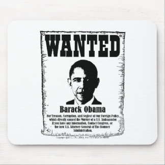 Barack Obama Wanted Poster Mouse Pad