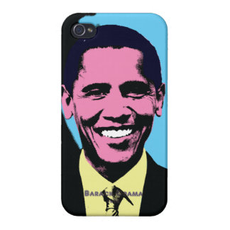 Barack Obama with Pop Art Style iPhone 4 Cover