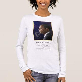 Barack Obama with President Kennedy Shirt