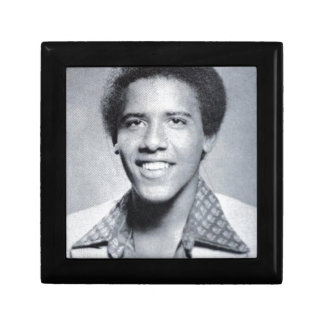 Barack Obama Yearbook Photo Small Square Gift Box