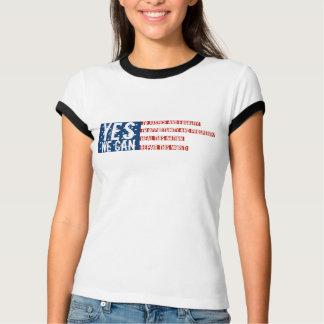 Barack Obama: YES WE CAN flag v2 T-Shirt