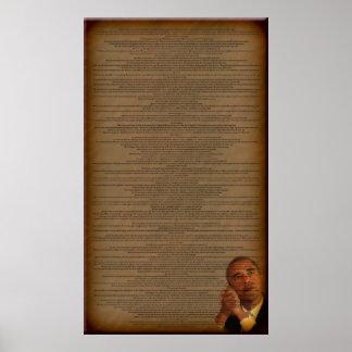 Barack Obama's Acceptance Speech Print