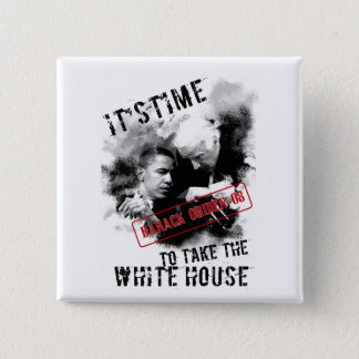 Barack Obiden 08 ItsTime To Take The White House 15 Cm Square Badge