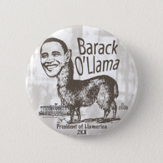 Barack O'Llama 2008 6 Cm Round Badge