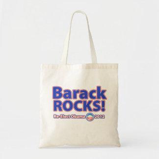 Barack ROCKS! Re-elect Obama 2012 Tote Bag