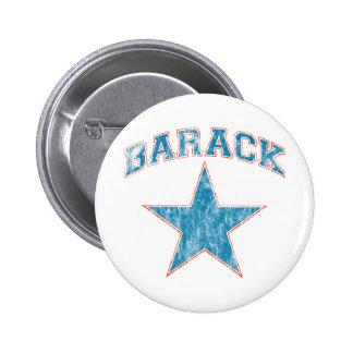 barack star 6 cm round badge