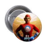 Barack Superhero 6 Cm Round Badge