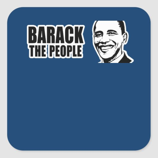 Barack the People Obama Bumper 5.png Stickers