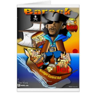 Barack The Pirate Card