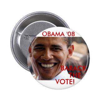 Barack The Vote '08 Pins