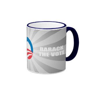 BARACK THE VOTE RINGER COFFEE MUG
