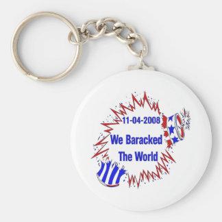 Baracked The World Key Chain