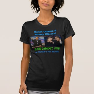 Barak Obama and Hillary Clinton T-Shirt