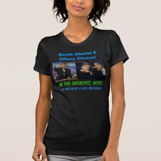 Barak Obama and Hillary Clinton T Shirts