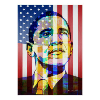 Barak Obama  Patriotic Poster