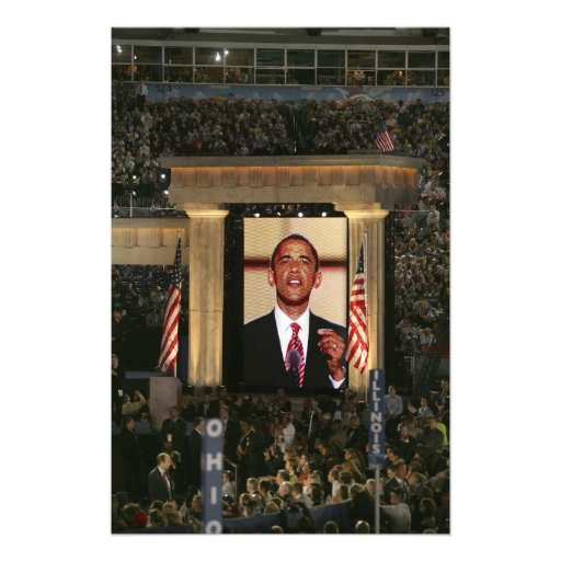 Barak Obama speaks at the last night of the Photo
