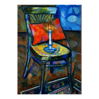 Baranoff-Rossine - Chair with a Candle Poster