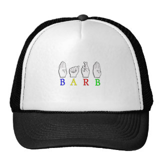 BARB ASL FINGERSPELLED NAME SIGN BARBARA CAP