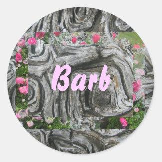 Barb Round Sticker