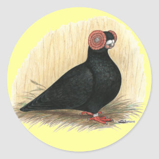 Barb:  Standard Black Round Sticker