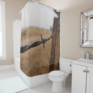 Barb Wire Fence Shower Curtain