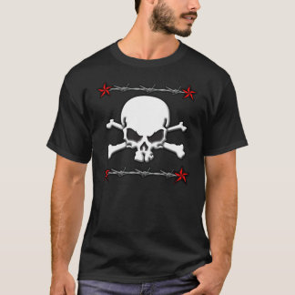 Barb Wire Skull/Crossbones T-Shirt