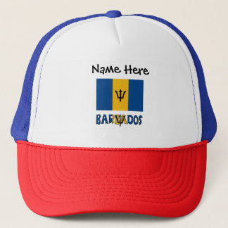 Barbadian Flag and Barbados Trucker Hat