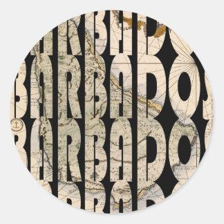 barbados1758 classic round sticker