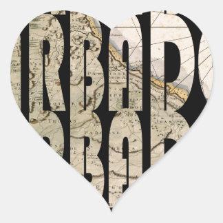 barbados1758 heart sticker