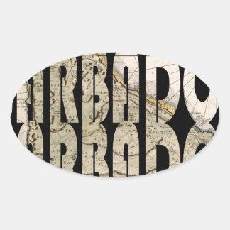 barbados1758 oval sticker