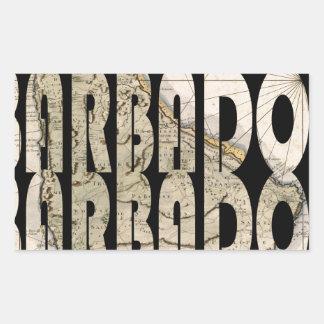 barbados1758 rectangular sticker