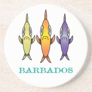 Barbados 3-Fishes Coaster