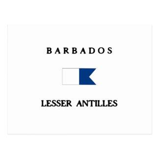 Barbados Alpha Dive Flag Postcard