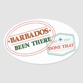 Barbados Been There Done That Oval Sticker
