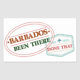 Barbados Been There Done That Rectangular Sticker
