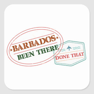 Barbados Been There Done That Square Sticker