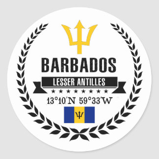 Barbados Classic Round Sticker