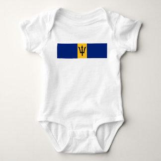 Barbados country flag symbol long baby bodysuit