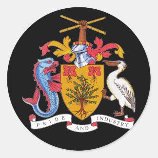 barbados emblem classic round sticker