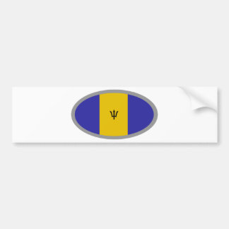 Barbados flag design! bumper sticker